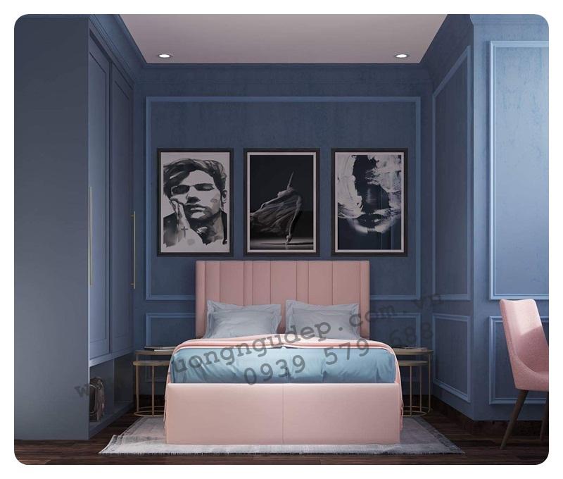 Giường ngủ bọc nệm cao cấp 205