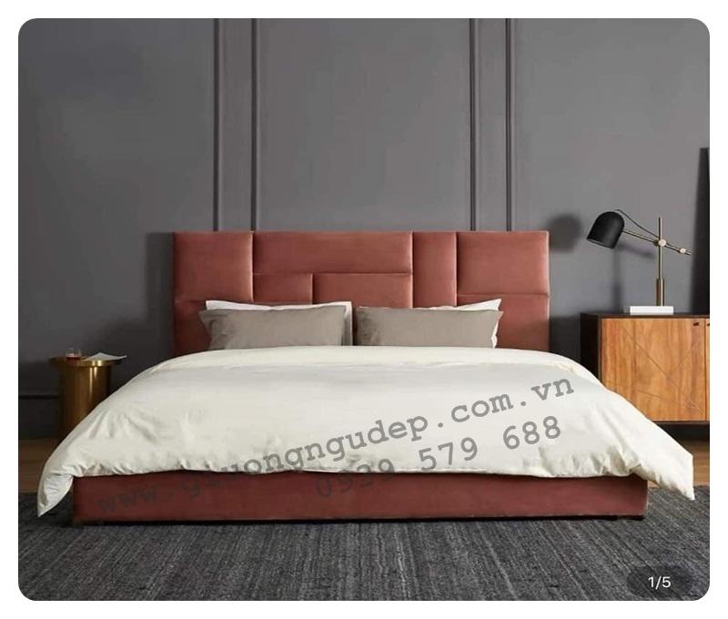 Giường ngủ bọc nệm cao cấp 206