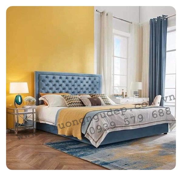 Giường ngủ bọc nệm cao cấp 208